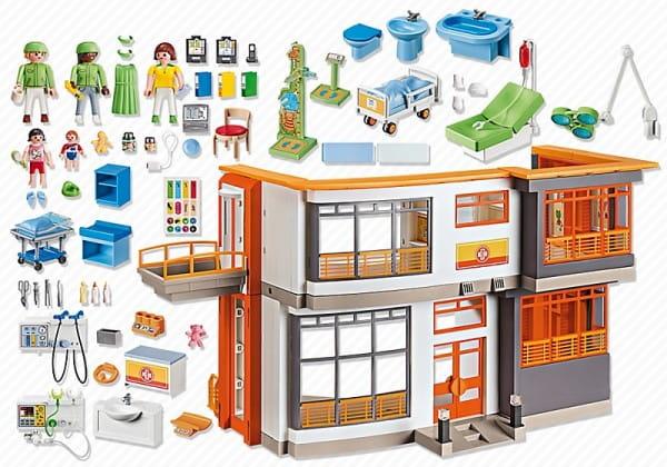 Игровой набор Playmobil Детская клиника - Меблированная детская больница