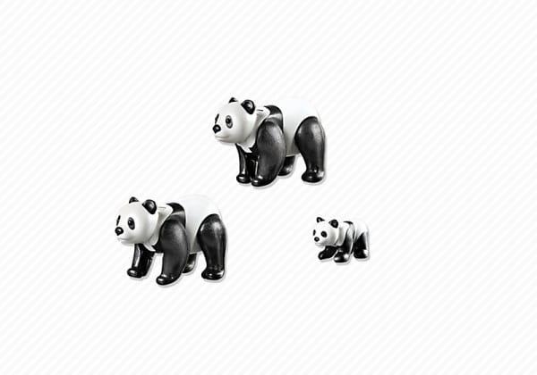 Купить Игровой набор Playmobil Зоопарк - Семья Панд в интернет магазине игрушек и детских товаров