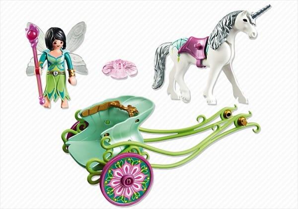 Игровой набор Playmobil 5446pm Карета с единорогом и фея бабочка