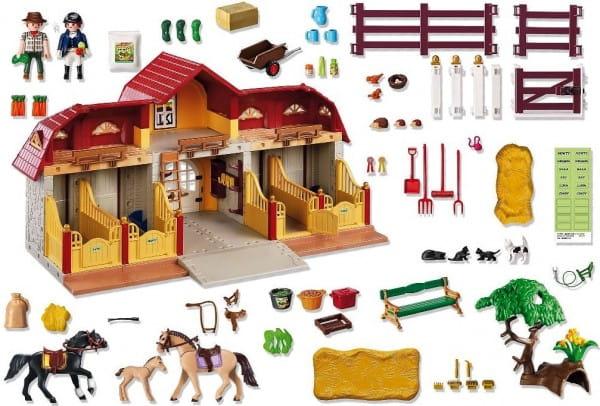 Игровой набор Playmobil Лошади - Большая конюшня