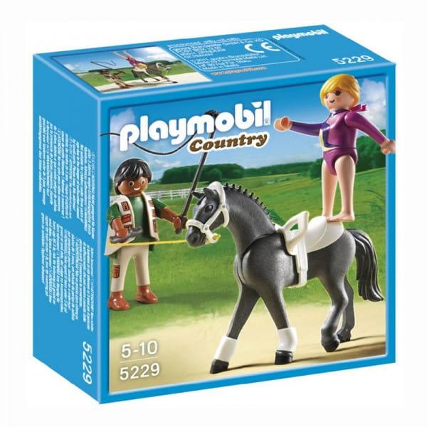 Игровой набор Playmobil 5229pm Лошади - Наездница-эквилибристка на лошади