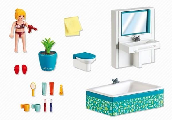Купить Игровой набор Playmobil Особняки - Современная ванная комната в интернет магазине игрушек и детских товаров