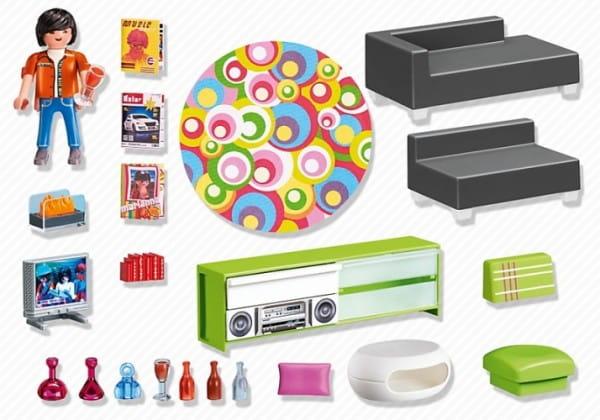Купить Игровой набор Playmobil Особняки - Современная гостиная в интернет магазине игрушек и детских товаров