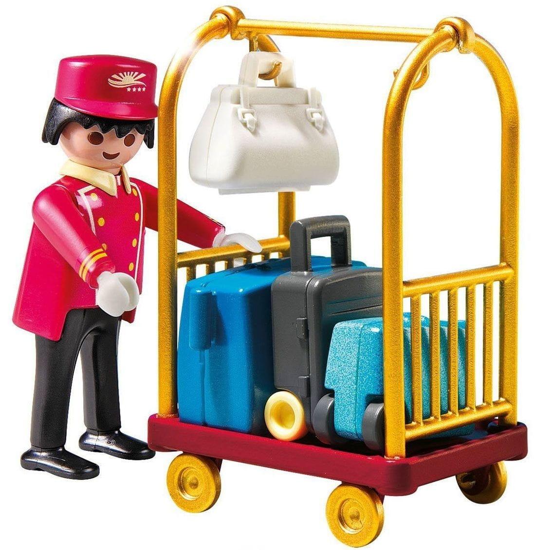 Игровой набор Playmobil 5270pm Отель - Носильщик с чемоданами