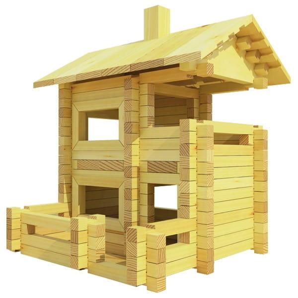 Конструктор Лесовичок Разборный домик №4 (200 деталей)