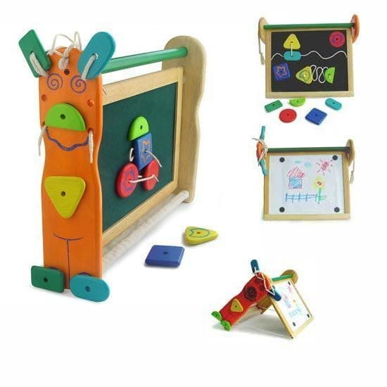 Купить Двусторонняя доска для рисования I am Toy с набором фигурок на липучках в интернет магазине игрушек и детских товаров