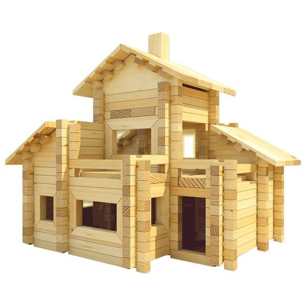 Конструктор Лесовичок Разборный домик №6 (320 деталей)