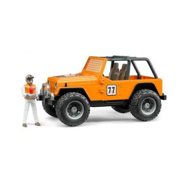 Внедорожник Bruder Cross Country Racer с гонщиком - оранжевый