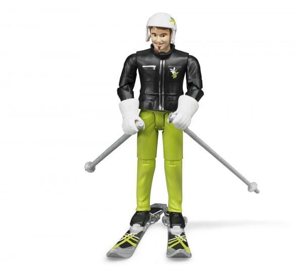 Игровой набор Bruder Фигурка лыжника с аксессуарами