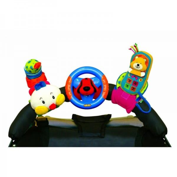 Купить Игровой набор KS Kids Гусеница, руль и мобильный телефон на креплении в интернет магазине игрушек и детских товаров
