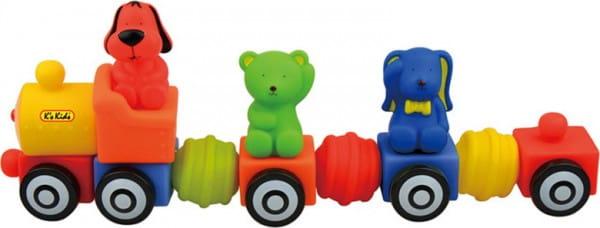 Купить Мягкий конструктор KS Kids Поезд друзей в интернет магазине игрушек и детских товаров