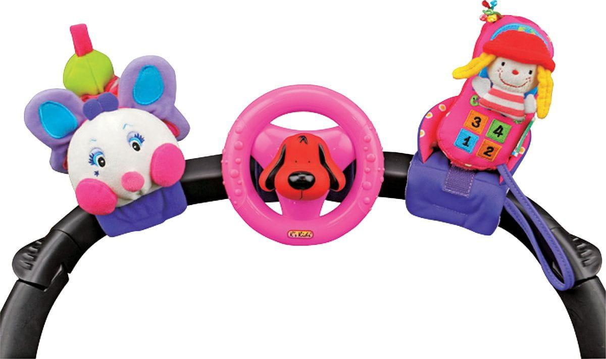 Набор развивающих игрушек для коляски KS Kids KA581 (гусеничка, руль, телефон)