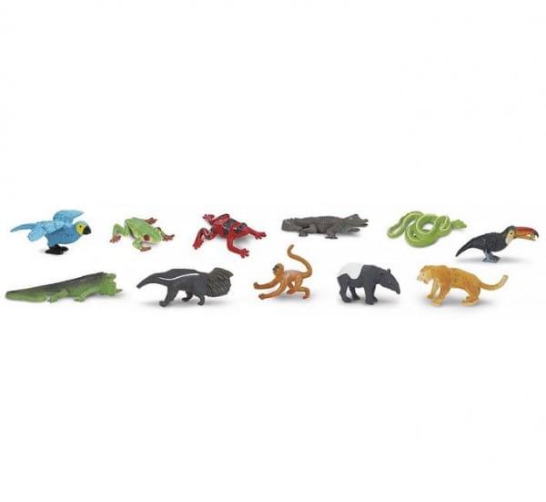 Купить Набор Safari Животные влажных тропических лесов - 11 штук в интернет магазине игрушек и детских товаров