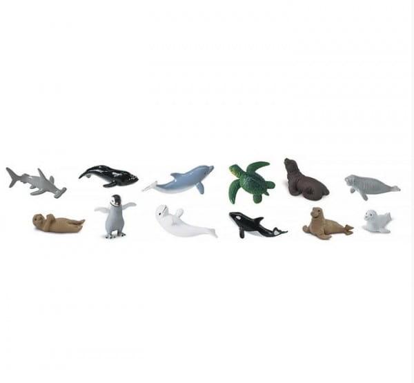 Набор SAFARI Детеныши обитателей моря - 12 штук