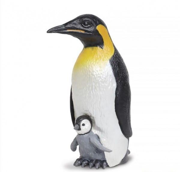 Фигурка Safari Императорский пингвин с детенышем XL