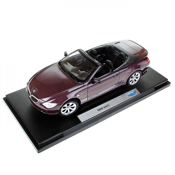 Машинка Welly BMW 654CI 1:18