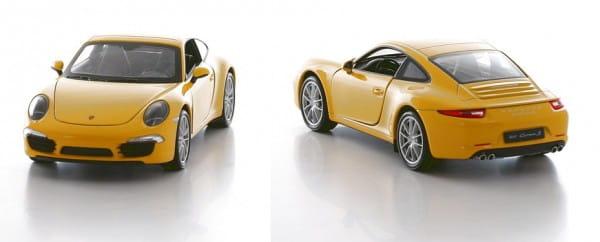 Машинка Welly Porsche 911 (991) 1:24