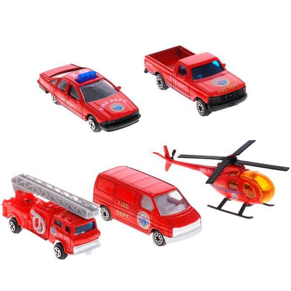Игровой набор Welly 97506B Пожарная команда - 5 штук