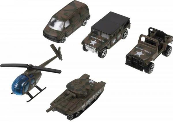 Игровой набор Welly 97506C Военно-полицейская команда - 5 штук