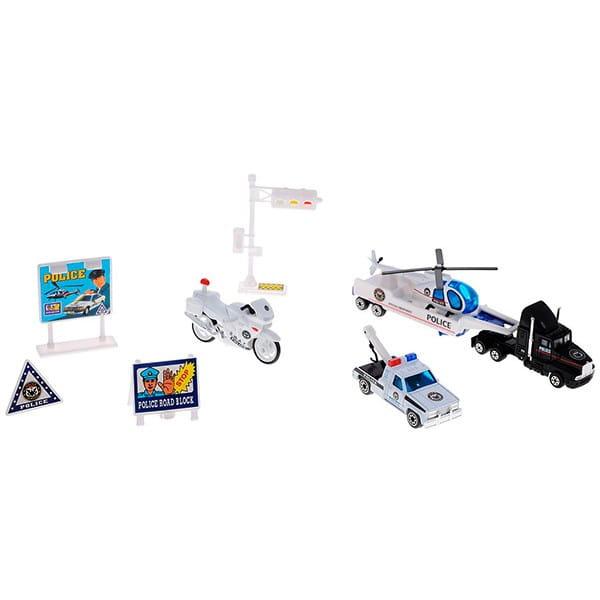 Игровой набор Welly 98630-9A Служба спасения Полиция - 9 штук