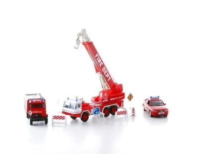 Игровой набор Welly 99610-10B Пожарная служба - 10 штук