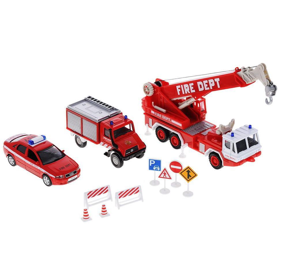Игровой набор Welly Пожарная служба - 10 штук