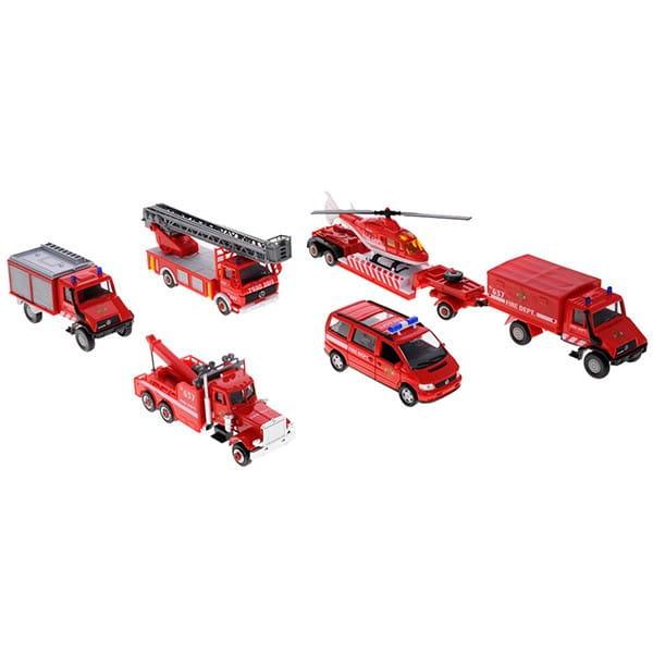 Игровой набор Welly 99610-6B Пожарная служба - 6 штук