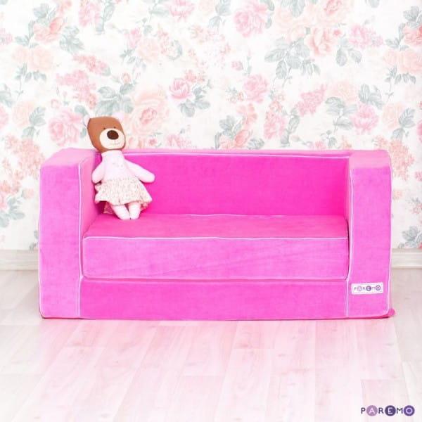 Раскладной игровой диванчик Paremo - розовый