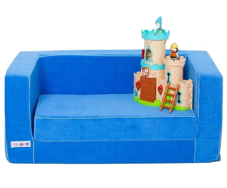Раскладной игровой диванчик PAREMO - голубой