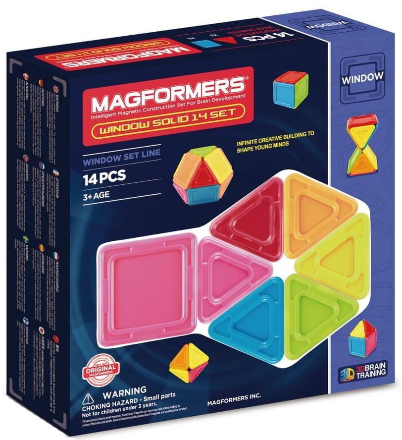 Магнитный конструктор Magformers 714005 Window Solid (14 деталей)