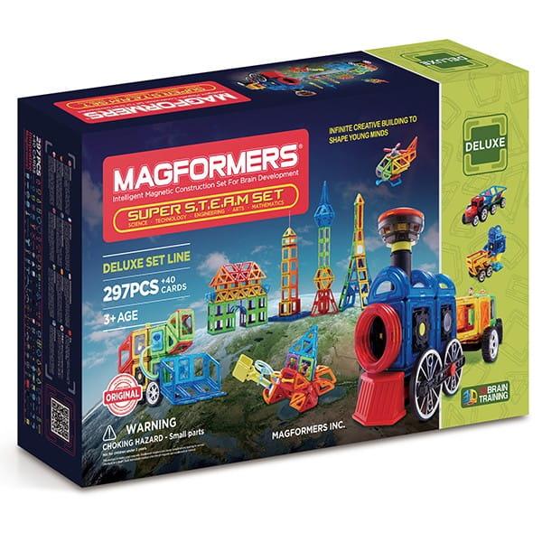 Магнитный конструктор Magformers 710009 Super Steam set (337 деталей)