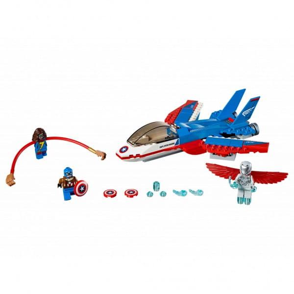 Конструктор Lego 76076 Super Heroes Лего Супер Герои Воздушная погоня Капитана Америка