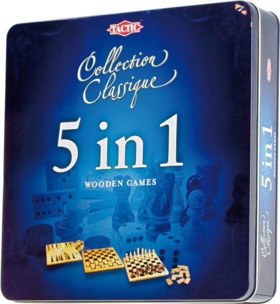 Купить Настольная игра Tactic 5 в 1 Подарочный набор в интернет магазине игрушек и детских товаров