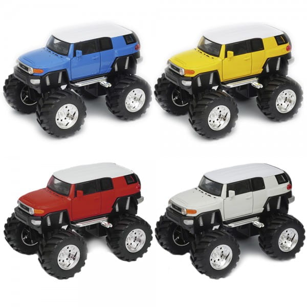 Машинка Welly 47003 Toyota FJ Cruiser Big Wheel 1:34