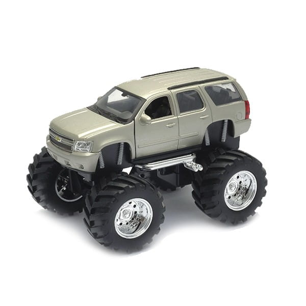 Машинка Welly Chevrolet Tahoe Big Wheel 1:34