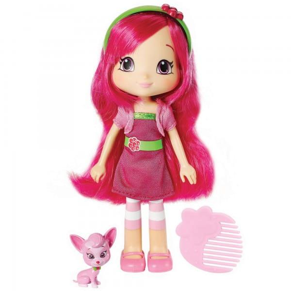 Кукла Strawberry Shortcake Шарлотта Земляничка - Малинка с питомцем 15 см