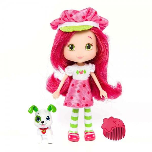Кукла Strawberry Shortcake Шарлотта Земляничка - Земляничка с питомцем 15 см