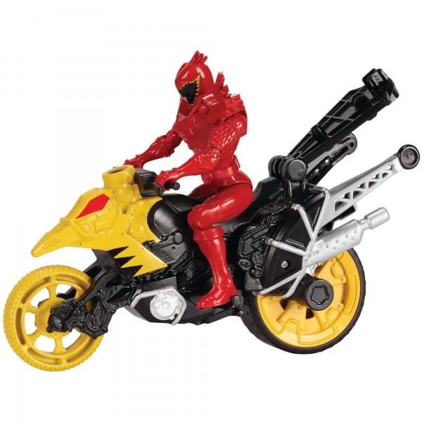 Игровой набор Power Rangers 43070 Могучие рейнджеры Динобайк и Красный рейнджер - 12 см