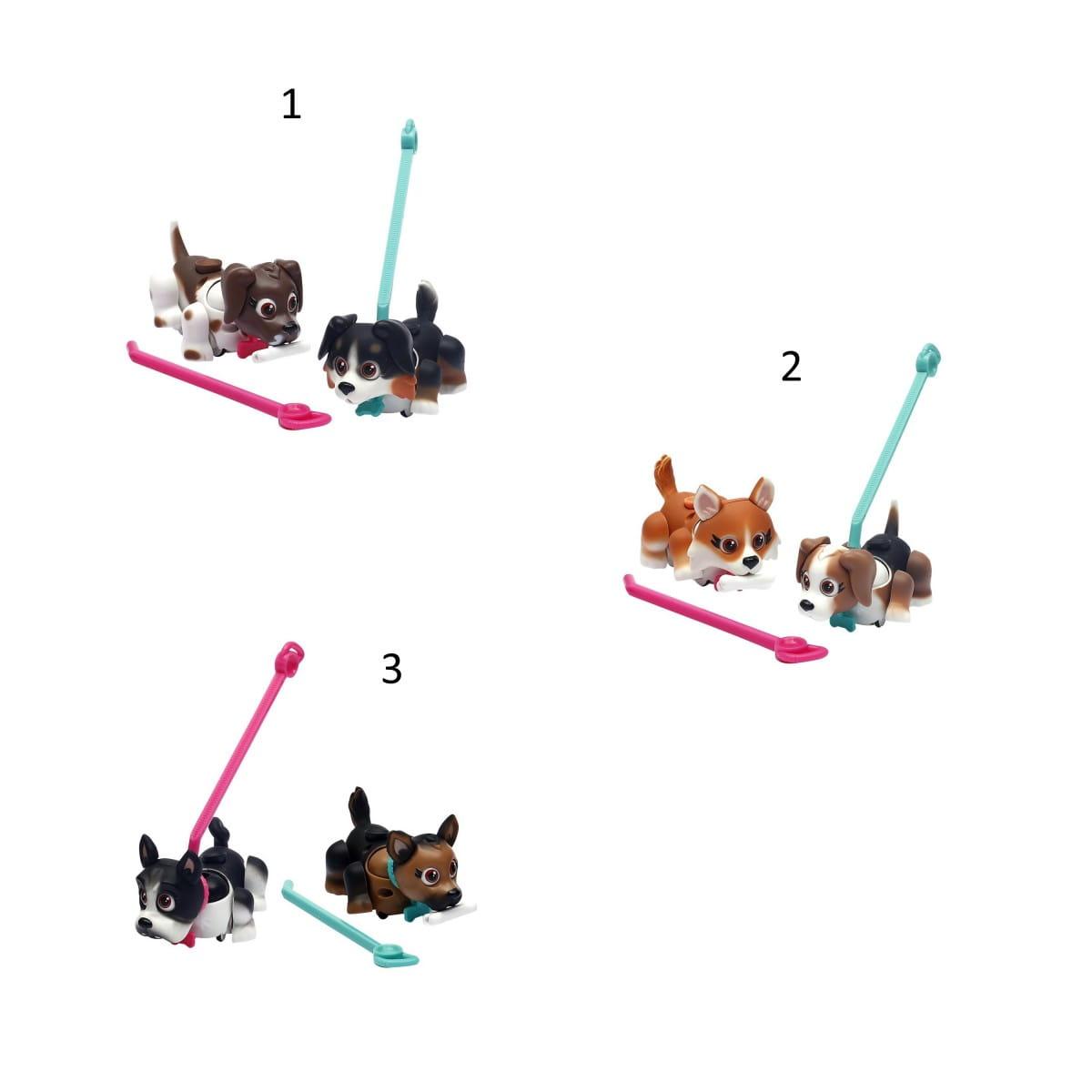 Игровой набор Pet Club Parade PTD01111 2 собачки с косточкой и поводком 2