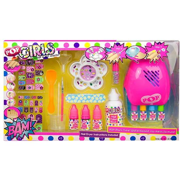 Большой набор детской декоративной косметики Markwins POP для ногтей