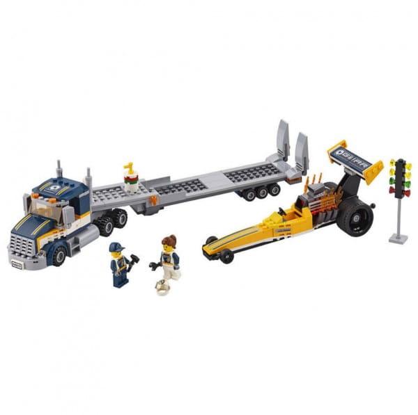 Конструктор Lego City Лего Город Грузовик для перевозки драгстера
