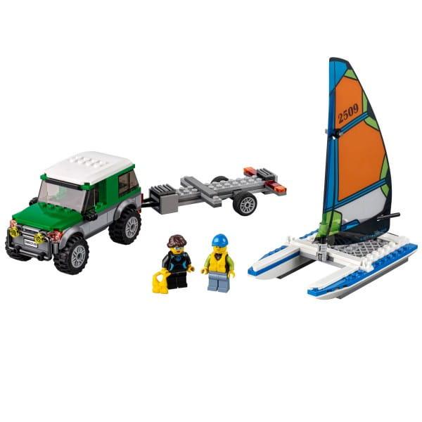 Конструктор Lego City Лего Город Внедорожник с прицепом для катамарана