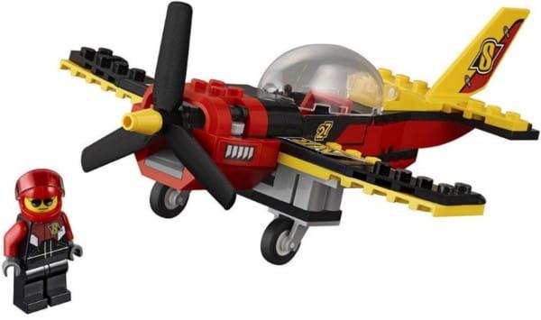 Конструктор Lego City Лего Город Гоночный самолет
