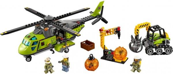 Конструктор Lego City Лего Город Грузовой вертолет исследователей вулканов