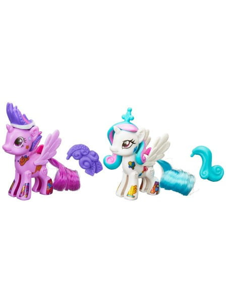 Игровой набор My Little Pony Стильные пони Создай свою пони - Принцесса Селестия и Твайлайт Спаркл (Hasbro)