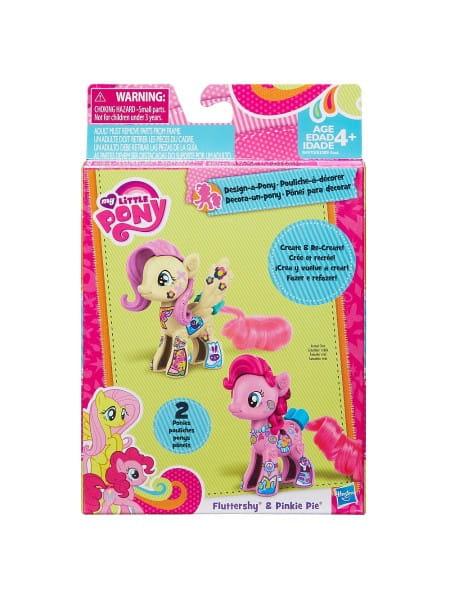 Игровой набор My Little Pony Стильные пони Создай свою пони - Флаттершай и Пинки Пай (Hasbro)