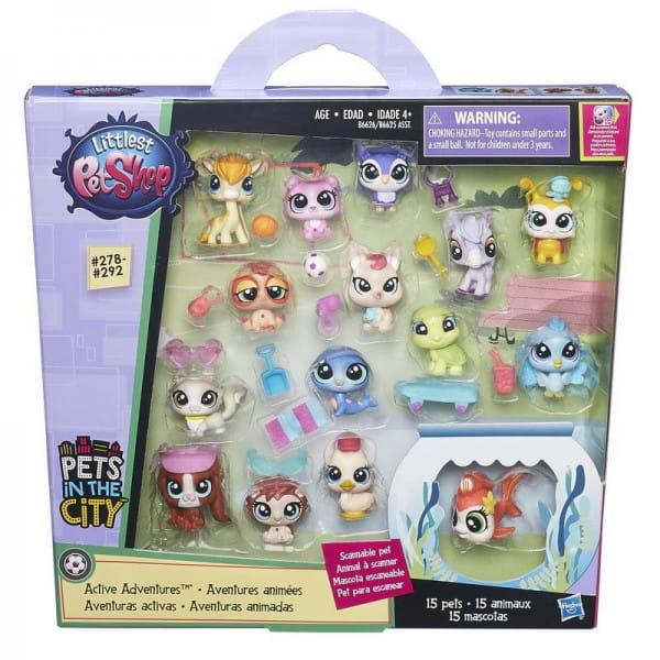 Игровой набор Littlest Pet Shop Набор зверюшек - малышей (Hasbro)