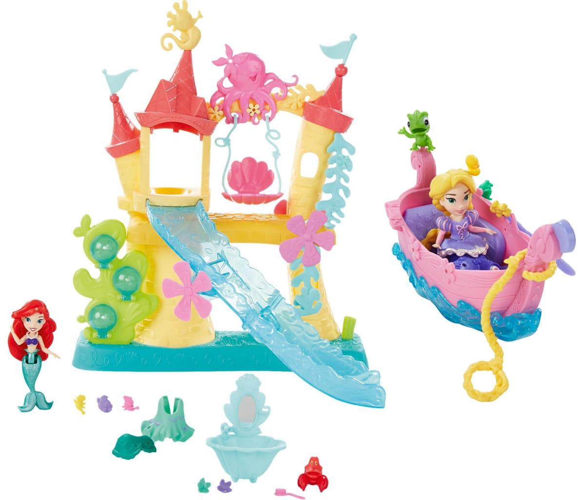 Игровой набор Disney Princess Замок Ариель для игры с водой и лодка с Принцессой (Hasbro)
