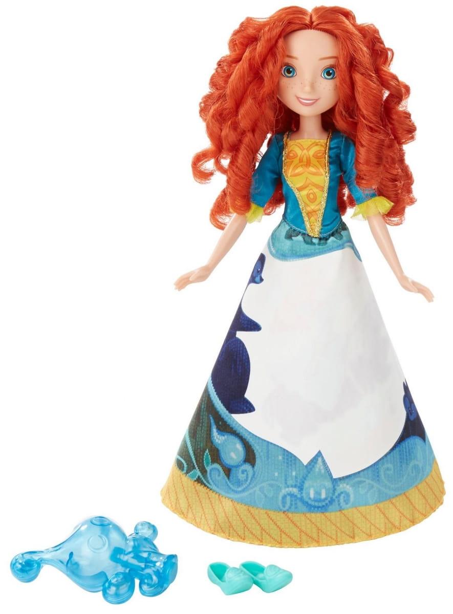 Модная кукла Disney Princess Принцесса Мерида в юбке с проявляющимся принтом (HASBRO)