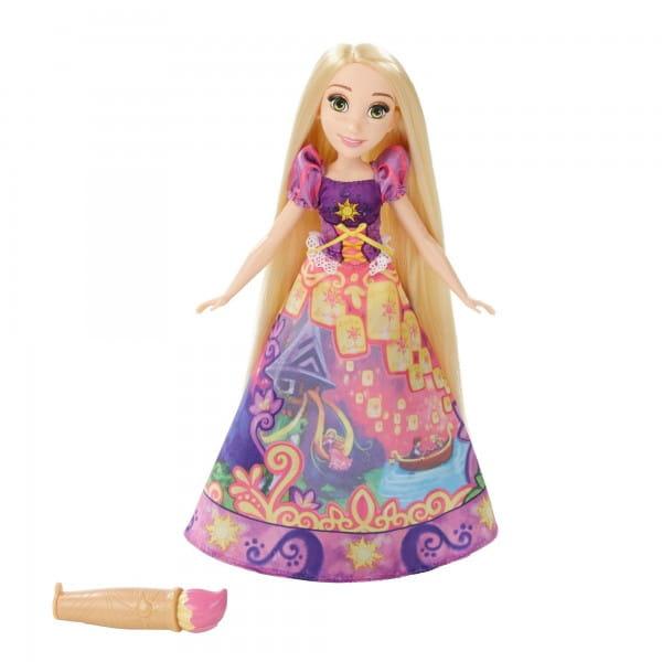 Модная кукла Disney Princess Принцесса Рапунцель в юбке с проявляющимся принтом (Hasbro)